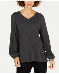 Style & Co. - Petite Bishop-sleeve Jumper, Created For Macy's - Lyst
