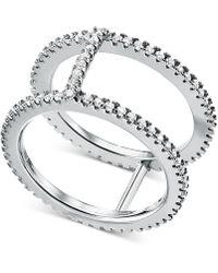 Michael Kors - Custom Kors Sterling Silver Pavé Nesting Ring Jacket - Lyst