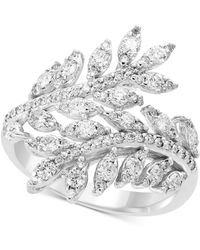 Effy Collection - Pavé Classica By Effy® Diamond Vine Bypass Ring (1 Ct. T.w.) In 14k White Gold - Lyst