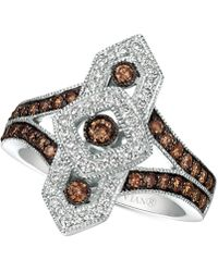 Le Vian - Chocolate Decotm Diamond Ring (3/4 Ct. T.w.) In 14k White Gold - Lyst