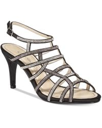 Caparros - Harmonica Embellished Caged Evening Sandals - Lyst