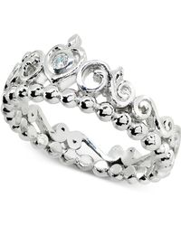 Giani Bernini - Cubic Zironia Tiara Ring In Sterling Silver, Created For Macy's - Lyst
