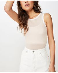 Cotton On Orla Open Back Knit Top - Multicolor