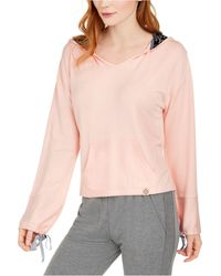 Vera Bradley Cropped French Terry Sleep Hoodie, Online Only - Pink