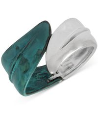 Robert Lee Morris Leaf Bypass Bangle Bracelet - Green