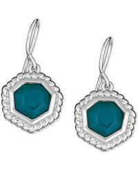 Macy's - Green Agate Drop Earrings In Sterling Silver - Lyst