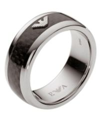 Armani Stainless Steel Ring - Metallic