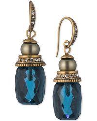 Carolee - Gold-tone Stone Drop Earrings - Lyst