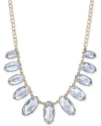 """INC International Concepts - Inc Gold-tone Thread-wrapped Stone Statement Necklace, 20"""" + 3"""" Extender, Created For Macy's - Lyst"""
