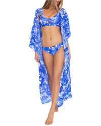 Trina Turk Basque Kimono Cover-up - Blue