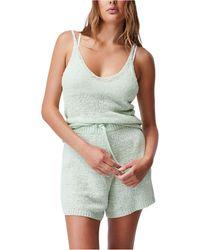 Cotton On Summer Lounge Singlet Tank Top - Green