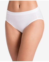 Jockey Cotton Stretch Hi Cut 1555, Created For Macy's, Also Available In Extended Sizes - White