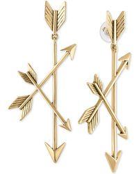 RACHEL Rachel Roy - Gold-tone Triple-arrow Drop Earrings - Lyst