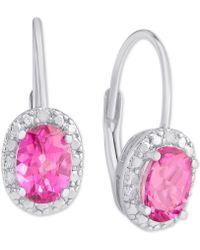 Macy's - Pink Topaz (2 Ct. T.w.) & Diamond Accent Drop Earrings In Sterling Silver - Lyst