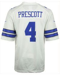 Nike Men's Dak Prescott Dallas Cowboys Game Jersey - White