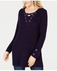 Style & Co. Lace-up Tunic Jumper, Created For Macy's