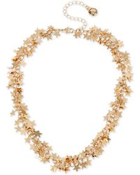 "BCBGeneration Gold-tone Shaky Star Collar Necklace, 14"" + 3"" Extender - Metallic"