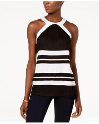 INC International Concepts - I.n.c. Colorblocked Halter Top, Created For Macy's - Lyst