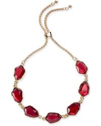 Style & Co. Stone Slider Bracelet, Created For Macy's - Red