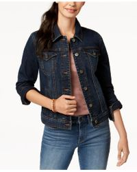 Style & Co. . Denim Jacket, Created For Macy's - Blue