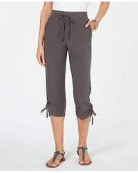 Style & Co. Ruched Capri Jogger Pants, Created For Macy's - Gray