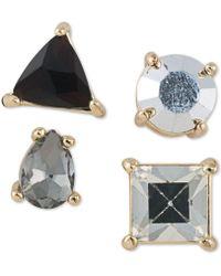 ABS By Allen Schwartz - Gold-tone 4-pc. Set Stone Single Stud Earrings - Lyst