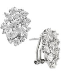Macy's - Swarovski Zirconia Cluster Stud Earrings In Sterling Silver - Lyst