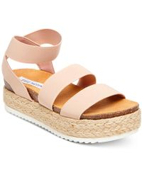 a4eff12e3fa Steve Madden - Kimmie Flatform Espadrille Sandals - Lyst