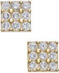 Macy's - Cubic Zirconia Square Cluster Stud Earrings - Lyst