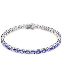 Macy's - Tanzanite Tennis Bracelet (15 Ct. T.w.) In Sterling Silver - Lyst