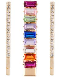 Guess Gold-tone 3-pc. Set Multicolor Crystal Hair Pins & Alligator Clip - Metallic