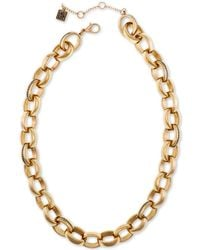 """Laundry by Shelli Segal Gold-tone Large Link Collar Necklace, 16"""" + 2"""" Extender - Metallic"""