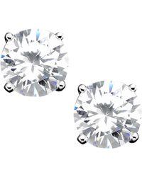 Giani Bernini - Sterling Silver Cubic Zirconia Stud Earrings (4 Ct. T.w.) - Lyst