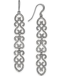 INC International Concepts - I.n.c. Silver-tone Pavé Openwork Linear Drop Earrings, Created For Macy's - Lyst