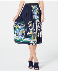 Charter Club Petite Midi Skirt, Created For Macy's - Blue