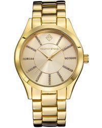 Lyst Coach Women S Boyfriend Rose Gold Plated Bracelet Watch 34mm