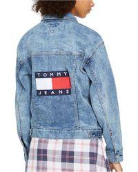 Tommy Hilfiger Jns Denim Oversized Jacket - Blue