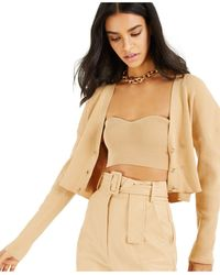INC International Concepts Culpos X Inc Ribbed Cardigan Sweater, Created For Macy's - Natural