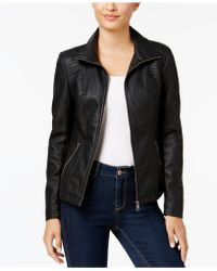 Style & Co. - Petite Faux-leather Moto Jacket, Created For Macy's - Lyst