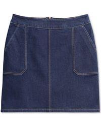 Charter Club Riviera Denim Skirt, Created For Macy's - Blue