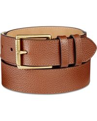 Cole Haan - Pebble Leather Belt - Lyst
