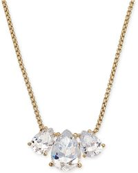 """Danori - Triple-crystal Pendant Necklace, 16"""" + 1"""" Extender, Created For Macy's - Lyst"""