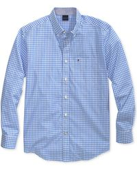 Tommy Hilfiger Twain Check Shirt With Magnetic Buttons - Blue