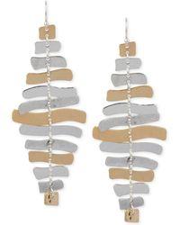 Robert Lee Morris Two-tone Sculptural Chandelier Earrings - Metallic