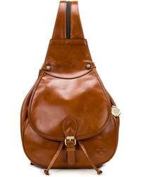 Patricia Nash Itala Saddle Sling Leather Backpack - Brown