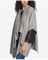 Tommy Hilfiger Open-front Poncho - Gray