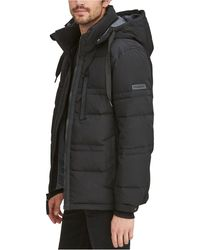 Marc New York Huxley Crinkle Down Jacket With Removable Hood - Black
