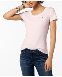Tommy Hilfiger - Cotton Logo T-shirt, Created For Macy's - Lyst