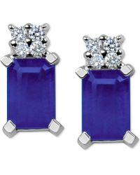 Macy's - Tanzanite (1-1/5 Ct. T.w.) & Diamond Accent Stud Earrings In 14k White Gold - Lyst