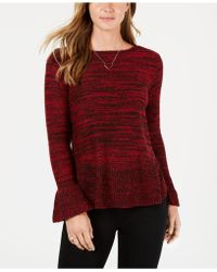 Style & Co. - Ruffle-trimmed Pullover Sweater, Created For Macy's - Lyst